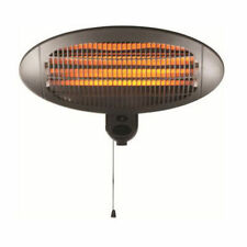 2KW QUARTZ WALL MOUNT MOUNTED OUTDOOR ELECTRIC GARDEN PATIO HALOGEN HEATER