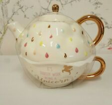 BN no box Tea for One Set by Asda with Unicorn Design