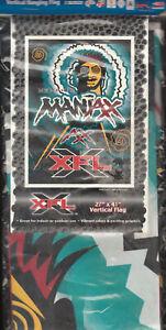 RARE XFL VERTICAL HANGING BANNER FLAG NIP 27X41 WINCRAFT MEMPHIS MANIAX