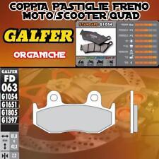FD063G1054 PASTIGLIE FRENO GALFER ORGANICHE ANTERIORI KYMCO NEXXON 50 07-08