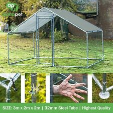 3m x 2m Chicken Run Coop Cage Pen Waterfowl Enclosure for Pets Hens Dogs Poultry