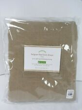 "Pottery Barn Classic Belgian Flax Linen Drape Curtain Blackout Mocha 96"" #6292"