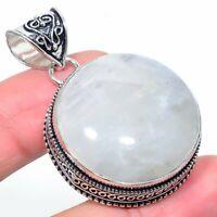 "Sodalite Gemstone Handmade Ethnic 925 Silver Jewelry Pendant 1.89"" AL-3830"