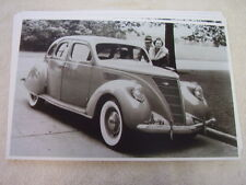 1937 LINCOLN ZEPHYR  4 DR  11 X 17  PHOTO  PICTURE