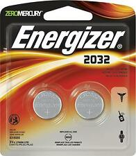 2 pcs Energizer CR 2032 Lithium Coin 3V Batteries DL2032 2032BP-2 Exp: 2024