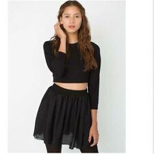 American Apparel double layered shirred waist chiffon skirt - size xs/s