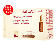 OFFER 2 x  Aslavital MineralActiv Collagen ampoules 10 x 2ml, Paraben-free