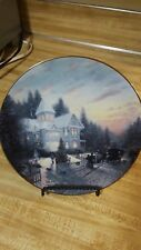 Thomas Kinkade The Magic of Christmas Knowles 1st Issue Collector Plate # 10715E