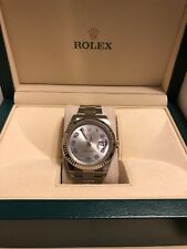 Rolex Mens 41mm Datejust II 116300 With Authentic 116334 18K gold bezel Arabic