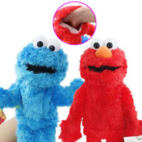 "Living Hand Puppets 14"" Elmo Cookie Monster Sesame Street Soft Plush Toy Gift"