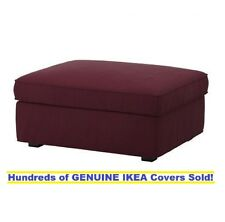 IKEA KIVIK Footstool (Ottoman) w/ Storage Cover Slipcover Dansbo RED-LILAC NEW!