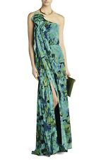 BCBG MaxAzaria Nalda One-Shoulder Long Ruffle Dress M NWT