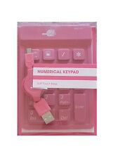 USB Wired Pink Numerical Keyboard