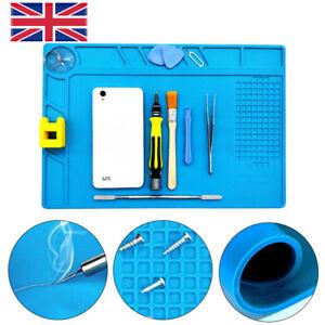 Heat Insulation Silicone Pad Soldering Repair Maintenance Work Platform Mat UK