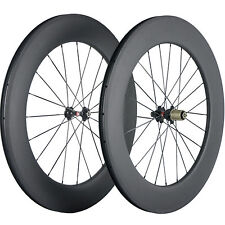 Touring Bike Wheelset 88mm Tubeless Carbon Wheels 25mm Width Road Bicycle Wheel