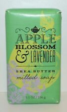 BATH & BODY WORKS APPLE BLOSSOM LAVENDER MILLED SOAP BODY BAR WASH SHEA BUTTER