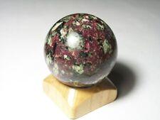 "EUDIALYTE sphere ball w/stand Kola  RUSSIA  45 mm (1.77"")  135 grams (4.76 oz)"