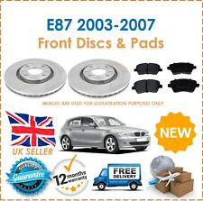 For BMW 1 Series E87 2003-2007 Two Front Vented 284MM Brake Discs & Brake Pads