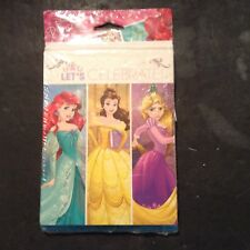Disney Princess 8 Party Invitations & 8 Thank You Cards W/ Envelopes & Checklist