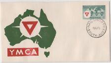 Stamp 1955 Australia 3&1/2d YMCA Jack Peake artistic cachet FDC, NAILSWORTH nice