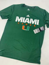 Miami Hurricanes Adidas Climalite Boy T-Shirt Green Crew Neck Tee Sport Medium