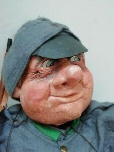 "Old large 20"" Good soldier puppet hearthenware Švejk Czech Marionette Handamade"