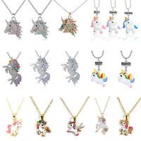Einhorn Charm Anhänger Mythical Flying Horse Halskette Kette Schmuck Geschenk DE