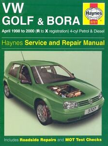 Volkswagen Golf and Bora Petrol and Diesel (1998-2000) Service  .9781859607275