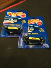 Two (2) Hot Wheels Turbo Streak New On Card Collector #235 New Paint Style