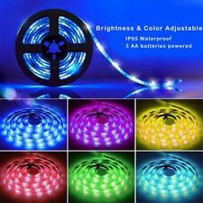 LED Strip Lights 5050 RGB Flexible Strip Lights Battery Powered IP65 Waterproof