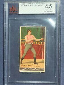 1888 N162 Goodwin Champions - Jack Dempsey HOF boxer #17 - Boxing card BVG 4.5