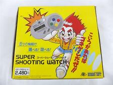 HUDSON SUPER SHOOTING WATCH Store stock box 1992 JAPANESE GAME
