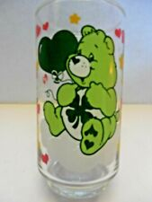 "Care bear glass ""Good Luck Bear"" 1985 American Greetings Corp."