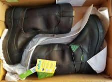 "John Deere Men's JD9600 12"" Steel Toe Miners Waterproof Pull-On Boot Black 11 W"
