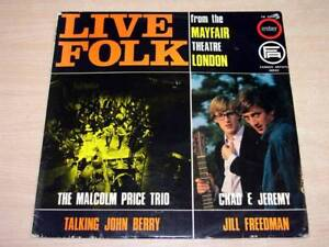 Live Folk From The Mayfair Theatre London/1965 Ember LP/Malcolm Price Trio