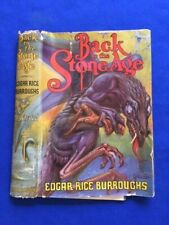 BACK TO THE STONE AGE: DUST JACKET ONLY - EDGAR RICE BURROUGHS