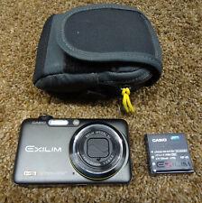 Casio EXILIM EX-FC100 9.1MP Digital Camera 30 FPS Video - Black with Case & Batt