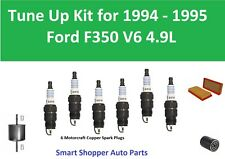 Air Filter, Oil Fuel Filter, Spark Plugs Tune Up For 1994 1995 Ford F350 V6 4.9L