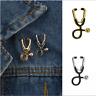 Stethoscope Women Coat Doctor Pin Nurse Lapel Medical Brooch Badge Jewelry Gift