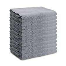 Microfiber Car Cleaning Towels - 12 Pack - Edgeless Lint Free 16 x 16 Cloth Rags
