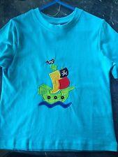 Boy Shirt Pirate Ship Embroidered Shirt Size 3