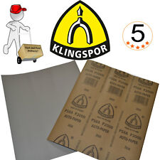 Wet and Dry Sandpaper Klingspor 50 pack Grits 800, 1000, 1200, 2000, 2500