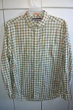 Reyn Spooner XL Palaka Squares with Embroidered Palms Long-Sleeves/Nice