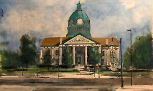 Binghamton New York Courthouse 14x23 in. acrylic on panel HALL GROAT II