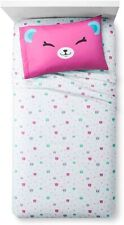 New Shopkins Happy Bear 3 piece twin Sheet Set Girls Bedroom Bedding