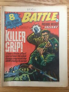 Battle and Valiant 3/9/77 The Sarge, Joe Two Beans, Johnny Red, IPC UK comic