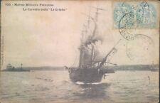 Postcard Shipping french military ship Corvette Le Sylphe  posted 1905