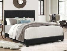 Platform Bed Frame With Headboard King Size Upholstered Beds Wood Frames, Black