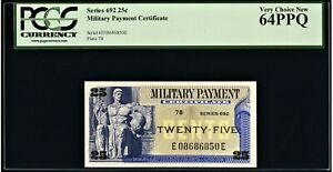 Series 692 Military Payment Certificate MPC 25¢ PCGS Very Choice New 64PPQ