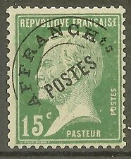 "FRANCE STAMP TIMBRE PREOBLITERE N° 65 "" PASTEUR 15c VERT"" NEUF xx TB"